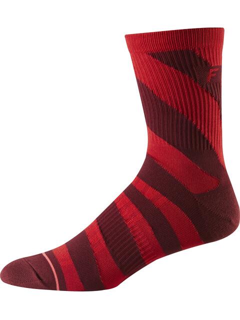 "Fox 6"" Trail Crew Socks Men cardinal"